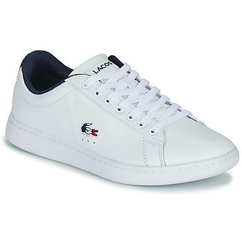 Sko Dame Lave sneakers Lacoste CARNABY EVO TRI 1 SFA Hvid / Marineblå / Rød