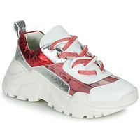 Sko Dame Lave sneakers Fru.it CARETTE Hvid / Rød / Sølv