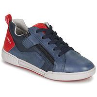 Sko Dreng Lave sneakers Geox J POSEIDO BOY Marineblå / Rød