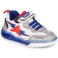 Sko Dreng Lave sneakers Geox J INEK BOY Hvid / Blå / Rød
