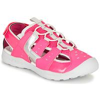 Sko Pige Sportssandaler Geox J VANIETT GIRL Pink / Sølv