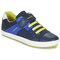 Sko Dreng Lave sneakers Geox J GISLI BOY Marineblå / Gul