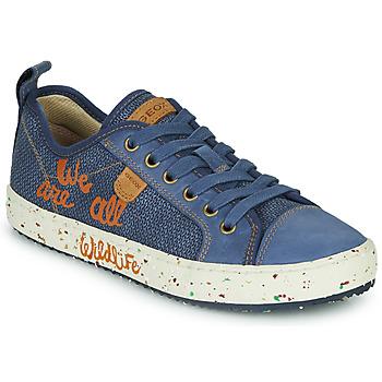 Sko Dreng Lave sneakers Geox J ALONISSO BOY Blå / Brun