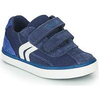 Sko Dreng Lave sneakers Geox B KILWI BOY Blå / Hvid