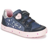 Sko Pige Lave sneakers Geox B KILWI GIRL Blå / Pink