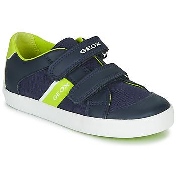 Sko Dreng Lave sneakers Geox B GISLI BOY Marineblå / Grøn