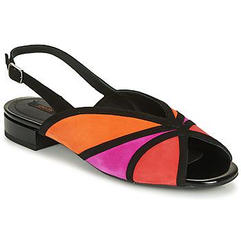 Sko Dame Sandaler Geox D WISTREY SANDALO Sort / Rød / Pink