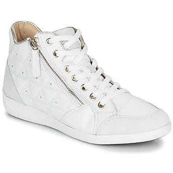 Sko Dame Høje sneakers Geox D MYRIA Hvid