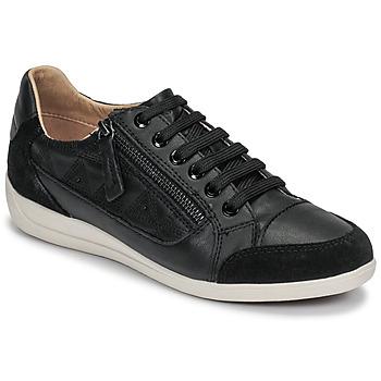 Sko Dame Lave sneakers Geox D MYRIA Sort