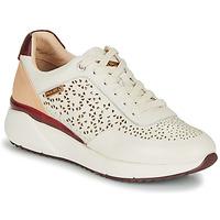 Sko Dame Lave sneakers Pikolinos SELLA W6Z Hvid / Bordeaux