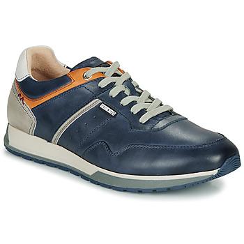 Sko Herre Lave sneakers Pikolinos CAMBIL M5N Cognac / Marineblå