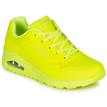 Sko Dame Lave sneakers Skechers UNO NIGHT SHADES Gul