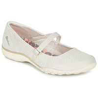 Sko Dame Ballerinaer Skechers BREATHE-EASY Beige