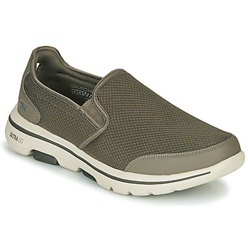 Sko Herre Slip-on Skechers GO WALK 5 Kaki