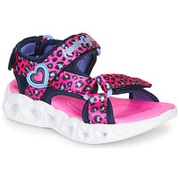 Sko Pige Sportssandaler Skechers HEART LIGHTS Pink / Sort