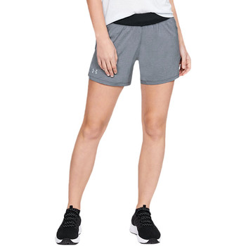 textil Dame Shorts Under Armour Launch SW Go Long Short 1342841-001 gris