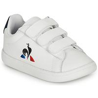 Sko Børn Lave sneakers Le Coq Sportif COURTSET INF Hvid