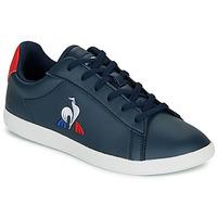 Sko Børn Lave sneakers Le Coq Sportif COURTSET GS Marineblå / Rød