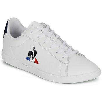 Sko Børn Lave sneakers Le Coq Sportif COURTSET GS Hvid