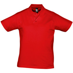 textil Herre Polo-t-shirts m. korte ærmer Sols PRESCOTT CASUAL DAY Rojo