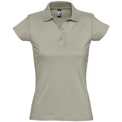 textil Dame Polo-t-shirts m. korte ærmer Sols PRESCOTT CASUAL DAY Beige