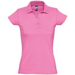 textil Dame Polo-t-shirts m. korte ærmer Sols PRESCOTT CASUAL DAY Rosa