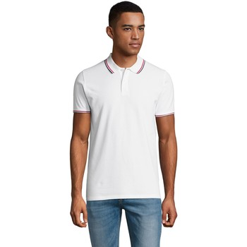 textil Herre Polo-t-shirts m. korte ærmer Sols PRESTIGE MODERN MEN Blanco