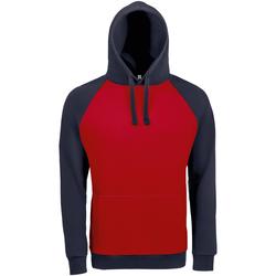 textil Herre Sweatshirts Sols SEATTLE KANGAROO MEN Rojo