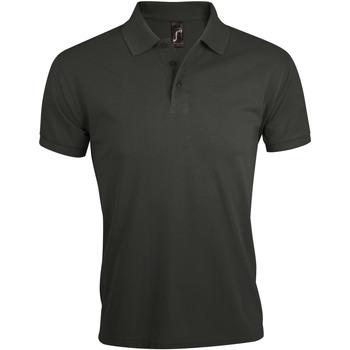 textil Herre Polo-t-shirts m. korte ærmer Sols PRIME ELEGANT MEN Gris