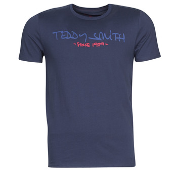 textil Herre T-shirts m. korte ærmer Teddy Smith TICLASS Marineblå