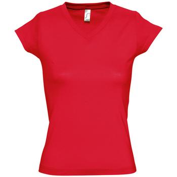 textil Dame T-shirts m. korte ærmer Sols MOON COLORS GIRL Rojo
