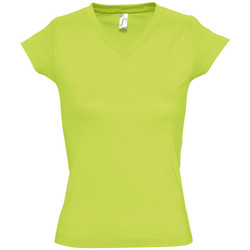 textil Dame T-shirts m. korte ærmer Sols MOON COLORS GIRL Verde