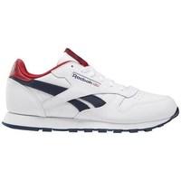 Sko Børn Lave sneakers Reebok Sport Classic Leather Hvid, Rød, Flåde