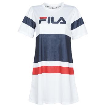 textil Dame Korte kjoler Fila BASANTI Hvid / Marineblå / Rød