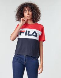 textil Dame T-shirts m. korte ærmer Fila ALLISON Marineblå / Rød / Hvid