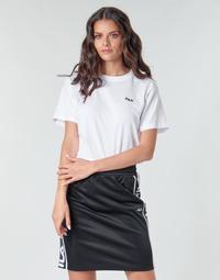 textil Dame T-shirts m. korte ærmer Fila EARA Hvid