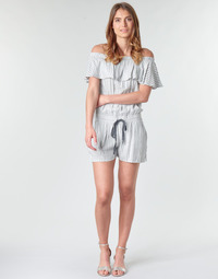 textil Dame Buksedragter / Overalls Deeluxe FAYME Hvid / Blå