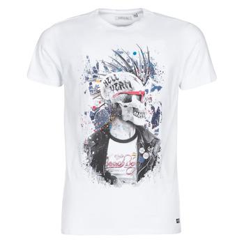 textil Herre T-shirts m. korte ærmer Deeluxe ENFIELDON Hvid