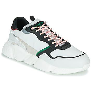 Sko Herre Lave sneakers Serafini OREGON Hvid / Sort