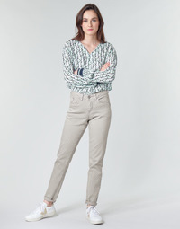 textil Dame Lærredsbukser Cream ANNIE Grå