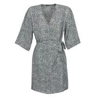 textil Dame Korte kjoler Ikks BQ30415-03 Sort / Hvid