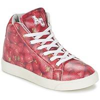 Sko Pige Høje sneakers American College RED Rød