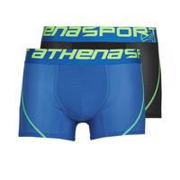 Undertøj Herre Trunks Athena AIR PERFORMANCE PACK X2 Sort / Blå