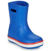 Sko Børn Gummistøvler Crocs CROCBAND RAIN BOOT K Blå / Rød