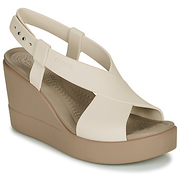 Sko Dame Sandaler Crocs CROCS BROOKLYN HIGH WEDGE W Beige