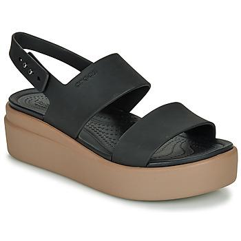 Sko Dame Sandaler Crocs CROCS BROOKLYN LOW WEDGE W Sort / Kamel