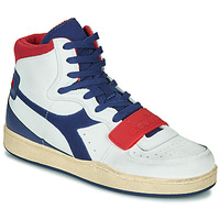 Sko Herre Høje sneakers Diadora MI BASKET USED Hvid / Blå / Rød
