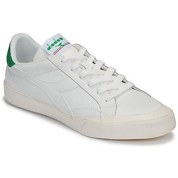 Sko Herre Lave sneakers Diadora MELODY LEATHER DIRTY Hvid / Grøn