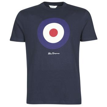 textil Herre T-shirts m. korte ærmer Ben Sherman SIGNATURE TARGET TEE Marineblå