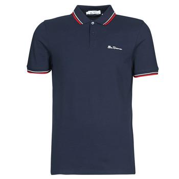 textil Herre Polo-t-shirts m. korte ærmer Ben Sherman SIGNATURE POLO Marineblå / Rød / Hvid